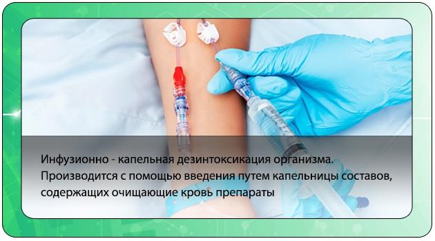 Инфузионно-капельная дезинтоксикация