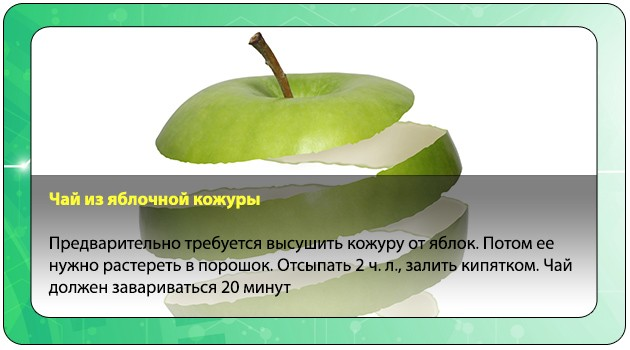 Яблочная кожура при оксалатах