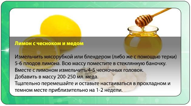 Лимон с медом и чесноком