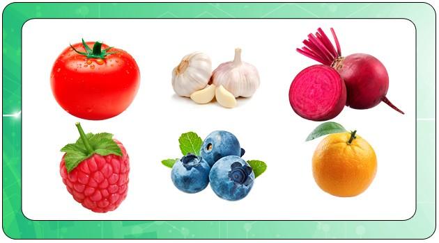 Zn в овощах и фруктах