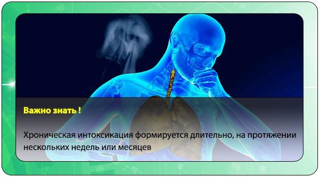 Хроническая интоксикация никотином