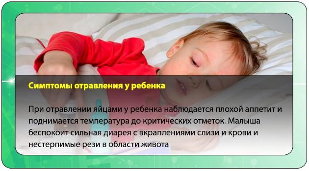 Интоксикация яйцами у детей