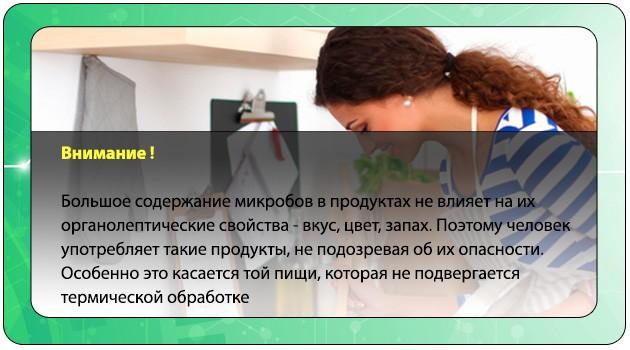 Принцип развития бактериального отравления