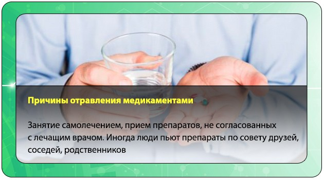 Причины отравления медикаментами