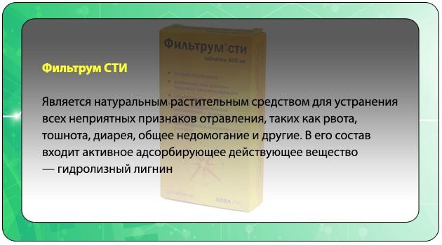 Описание препарата Фильтрум СТИ