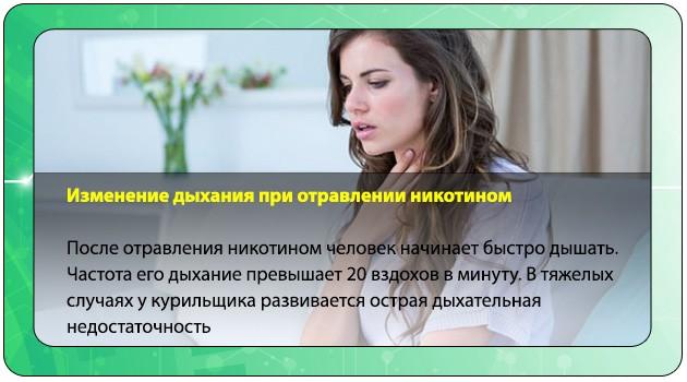 Симптомы интоксикации никотином