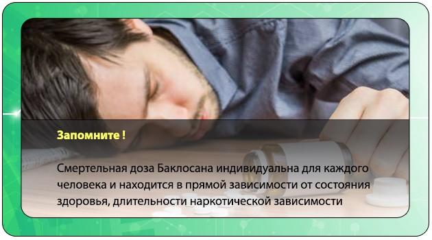 Смертельная доза Баклосана