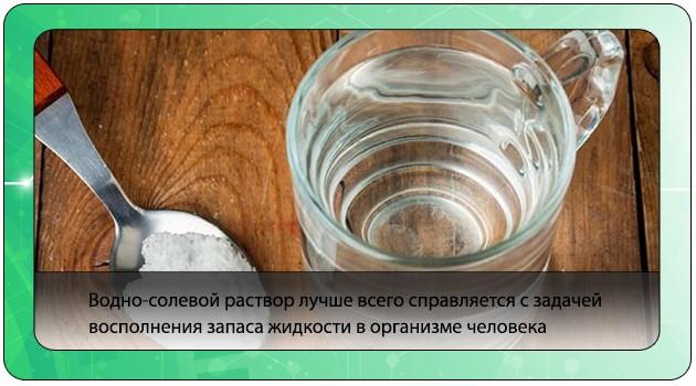 Солевой раствор при отравлении, поносе или рвоте