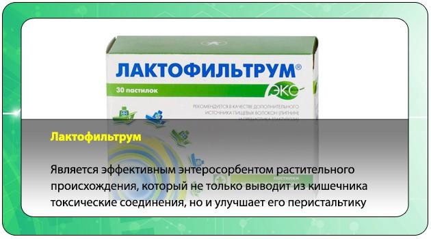 Действие препарата Лактофильтрум
