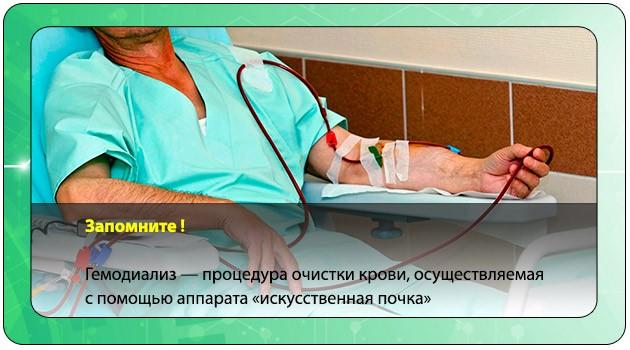 Процедура очищения крови
