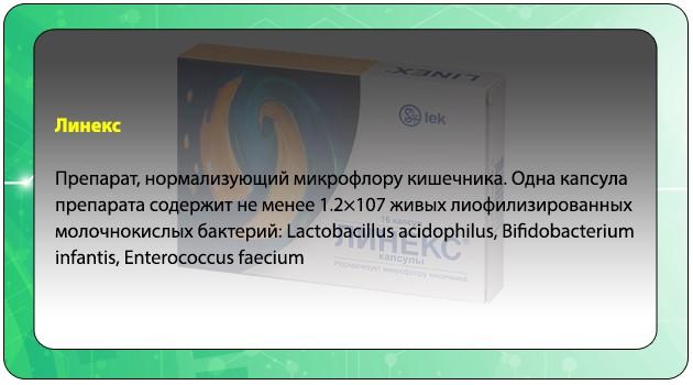 Состав препарата Линекс