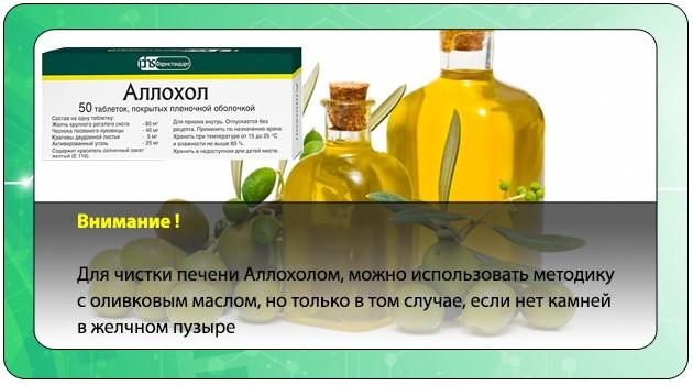 Аллохол с оливковым маслом