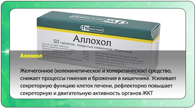Фармакологическое действие Аллохола
