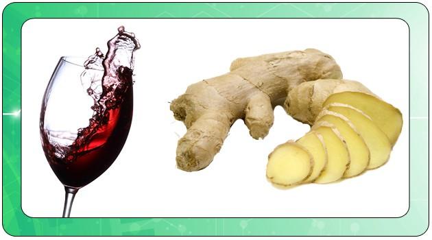 Красное вино и имбирь