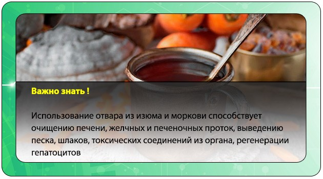 Отвар из изюма и моркови