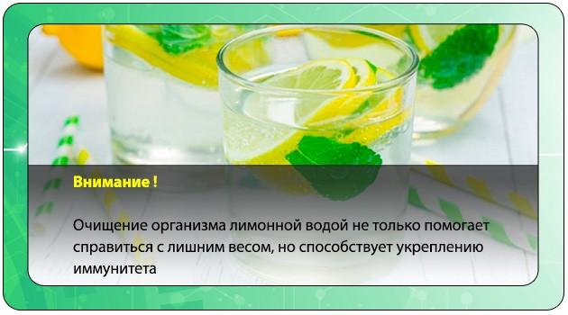 Очищение организма лимонной водой
