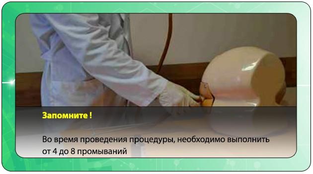 Промывание кишечника клизмой