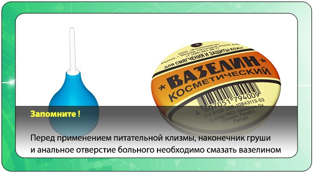 Резиновая груша и вазелин