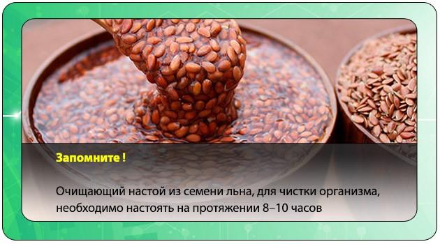 Настой из льняного семени