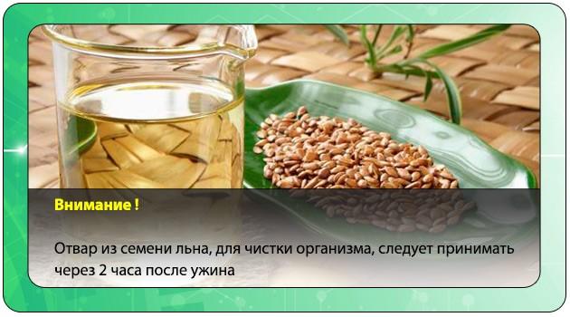 Отвар из семени льна