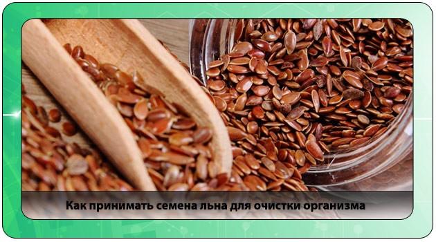 чистка организма семенами льна отзывы