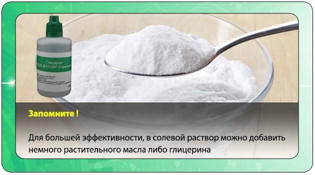 Солевой раствор с глицерином