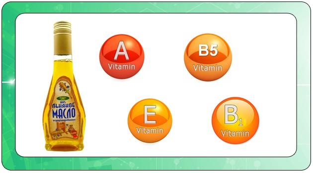 Витамины в Льняном масле