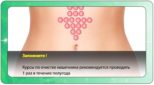 Периодичность проведения чистки кишечника при похудении