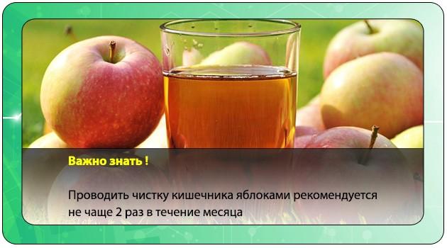 Яблочная чистка организма