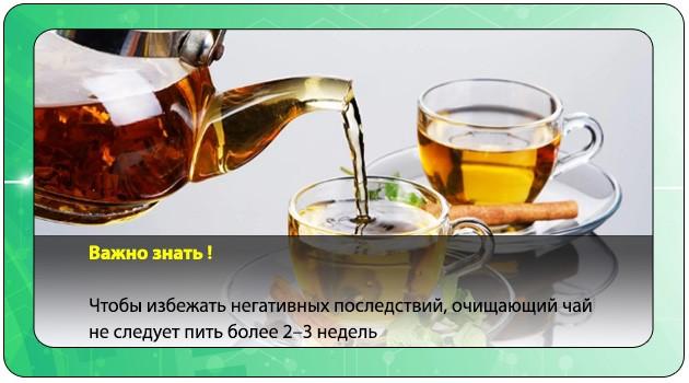 Продолжительность употребления очищающего чая
