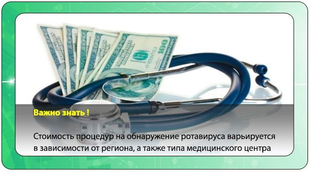 Стоимость анализов на ротавирус