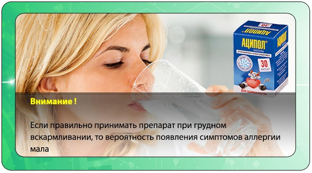 Прием препарата Аципол