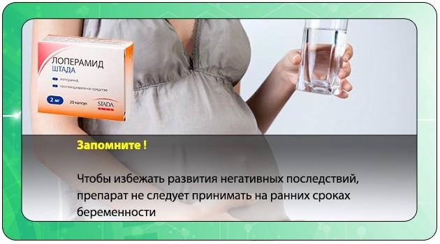 Лоперамид Штада при беременности