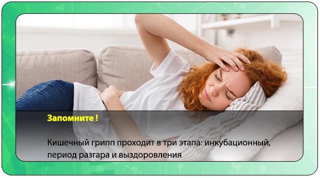Период разгара кишечного гриппа