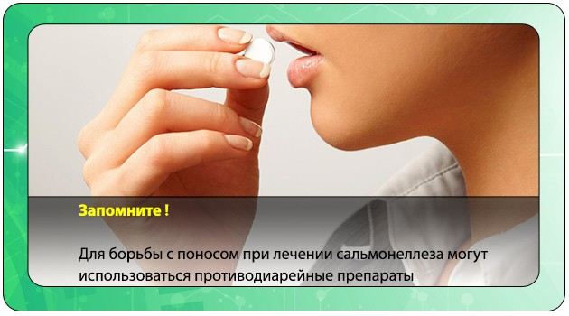 Прием лекарства от диареи