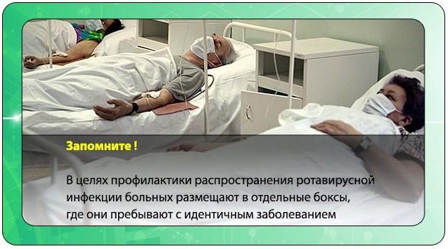 Размещение больных в стационаре