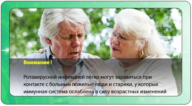 Ротавирус у пожилого человека