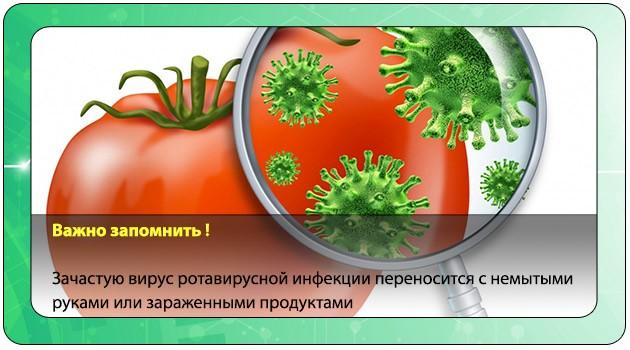 Зараженные ротавирусом продукты