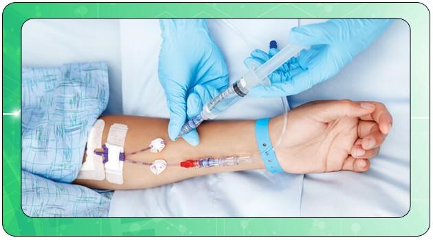 Внутривенное введение лекарств при лечении ботулизма