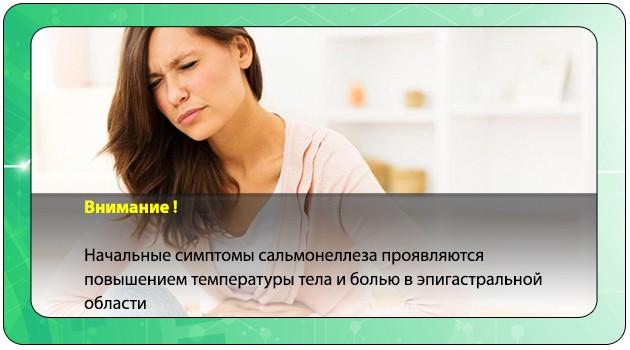 Боль в эпигастральной области при сальмонеллезе