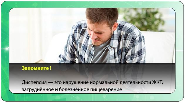 Диспепсические расстройства у мужчины
