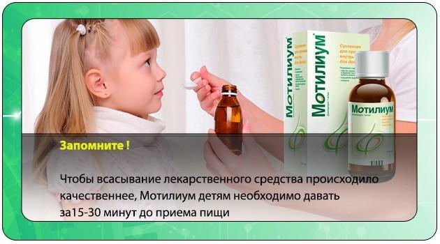 Девочка принимает сироп Мотилиум