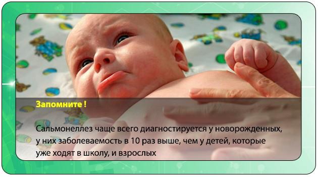 Сальмонеллез у новорожденного ребенка