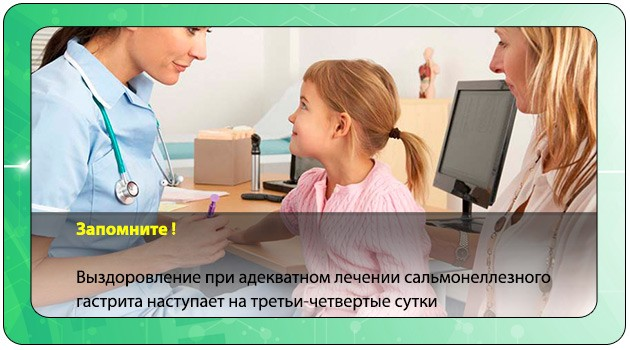 Лечение сальмонеллезного гастрита у ребенка