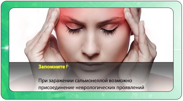Неврологические проявления сальмонеллеза