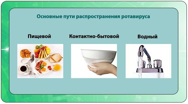 Основные пути распространения инфекции
