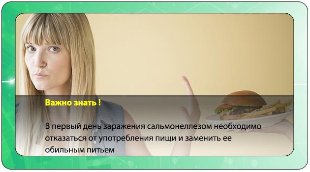 Отказ от употребления пищи при сальмонеллезе