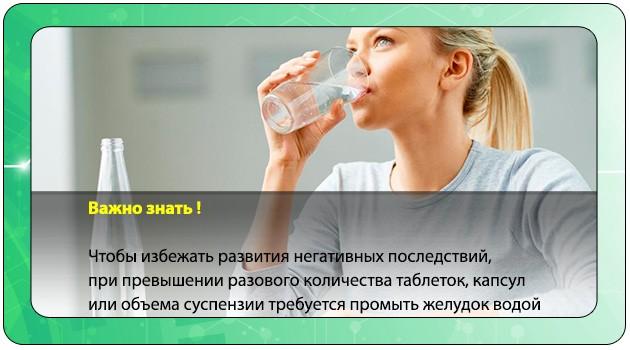 Девушка пьет воду при передозировке Стопдиаром