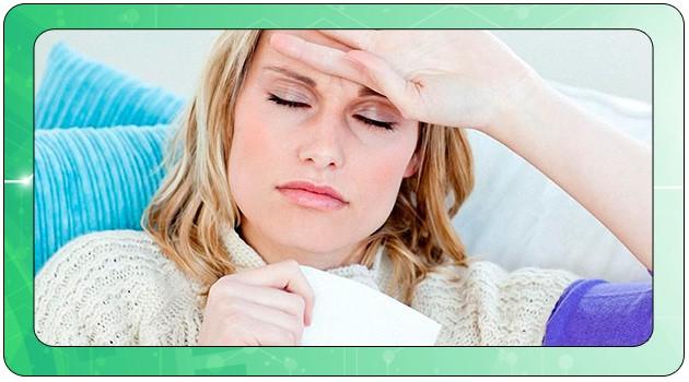 У женщины болит голова при ротавирусе