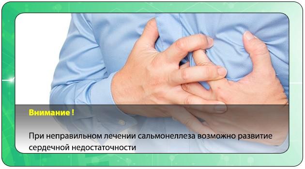 Сердечная недостаточность при сальмонеллезе